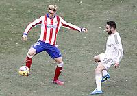 Atletico de Madrid's Fernando Torres (l) and Real Madrid's Daniel Carvajal during La Liga match.February 7,2015. (ALTERPHOTOS/Acero) /NORTEphoto.com