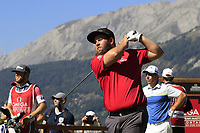 Andrew Johnston (ENG) tees off the 7th tee during Saturday's Round 3 of the 2018 Omega European Masters, held at the Golf Club Crans-Sur-Sierre, Crans Montana, Switzerland. 8th September 2018.<br /> Picture: Eoin Clarke | Golffile<br /> <br /> <br /> All photos usage must carry mandatory copyright credit (&copy; Golffile | Eoin Clarke)