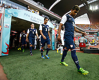 USA's players (Left to Right) William Trapp, Shane O Neill , Juan Pablo Ocegueda, DeAndre Yedlin during their FIFA U-20 World Cup Turkey 2013 Group Stage Group A soccer match Ghana betwen USA at the Kadir Has stadium in Kayseri on June 27, 2013. Photo by Aykut AKICI/isiphotos.com