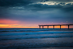 Sunrise at New Brighton Pier, New Brighton, South Island, New Zealand