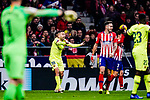 Jordi Alba of FC Barcelona (L) gestures during the La Liga 2018-19 match between Atletico Madrid and FC Barcelona at Wanda Metropolitano on November 24 2018 in Madrid, Spain. Photo by Diego Souto / Power Sport Images