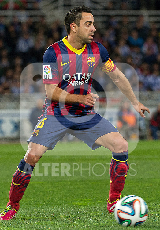 FC Barcelona's Xavi Hernandez during La Copa match.February 12,2014. (ALTERPHOTOS/Mikel)