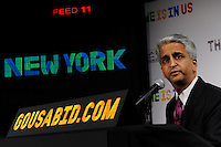 U.S. Soccer President and USA Bid Committee Chairman Sunil Gulati announces New York as one of the 18 cities to be submitted to FIFA as part of the bid to host the 2018 or 2022 FIFA World Cup at the ESPN Zone in Times Square, NYC, NY, on January 12, 2010.