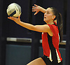 Alice Brandt #9 of Floral Park serves during the Nassau County varsity girls volleyball Class A semifinals against South Side at Massapequa High School on Monday, Nov. 7, 2016. Floral won 3-2.