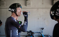 Salvatore Puccio (ITA/Sky) refueling after the TTT<br /> <br /> Elite Men&rsquo;s Team Time Trial<br /> UCI Road World Championships Richmond 2015 / USA