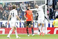 Real Madrid's Karim Benzema celebrates goal during La Liga match.January 31,2015. (ALTERPHOTOS/Acero) /NortePhoto<br /> /NortePhoto.com