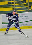 14 February 2015: University of New Hampshire Wildcat Forward Haley Breedlove, a Junior from Plano, Texas, in third period action against the University of Vermont Catamounts at Gutterson Fieldhouse in Burlington, Vermont. The Ladies played to a 3-3 tie in their final meeting of the NCAA Hockey East season. Mandatory Credit: Ed Wolfstein Photo *** RAW (NEF) Image File Available ***