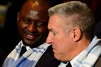 Philadelphia, PA - Friday January 19, 2018: Patrick Vieira, Peter Vermes during the 2018 MLS SuperDraft at the Pennsylvania Convention Center.