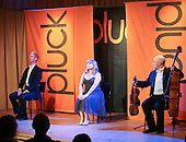 """Pluck"" body theatre with music performing at Leconfield Hall, Petworth Festival, West Sussex."