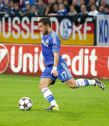 22.10.2013. Gelsenkirchen, Germany. Gelsenkirchen, Veltins-Arena, Chelsea's  Eden Hazard during the match between FC Schalke 04 vs. Chelsea London in the champions league season 2013/2014.