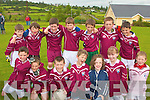 Scartaglin under 10 team who took part in the football blitz in Knocknagoshell on Sunday were front l-r Brendan Healy, Shay Walsh, Pascal O'Connor, Padraig O'Connor, Laura O'Connell, Aoife O'Connor, Jason Browne.  Back l-r Conor Mitchell, David Riordan, Florence Mcarthy, Timmy Mitchell, Hugh O'Connor, Jack Walsh and Joshua Keane..   Copyright Kerry's Eye 2008