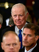 Former United States Secretary of State James A. Baker, III at the ceremony honoring former United States President George H.W. Bush, who will Lie in State in the Rotunda of the US Capitol on Monday, December 3, 2018.  Baker also served as White House Chief of Staff for President Bush.<br /> Credit: Ron Sachs / CNP<br /> (RESTRICTION: NO New York or New Jersey Newspapers or newspapers within a 75 mile radius of New York City)