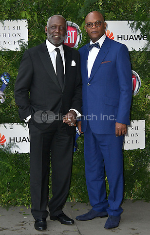 Richard Roundtree, Samuel L Jackson at Charity ball in aid of One For The Boys, a charity raising awareness of male forms of cancer, encouraging men to get checked regularly. Evening celebrates the launch of the 2016 campaign film The Difference, at Victoria and Albert Museum, London, England June 12, 2016.<br /> CAP/JOR<br /> &copy;JOR/Capital Pictures /MediaPunch ***NORTH AND SOUTH AMERICAS ONLY***