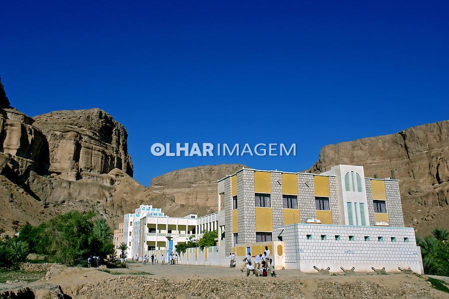 Escola masculina na cidade de Wadi Doan. Yemen. 2008. Foto de Caio Vilela.