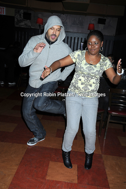 Terrell Tilford dancing at the Shenell Edmonds Fan Club Dance Party  on October 10, 2010 at HB Burger in New York City.