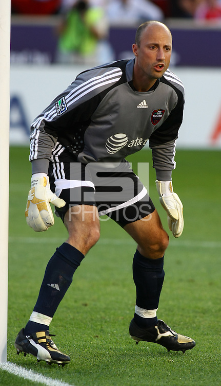 Kasey Keller in the MLS All Stars v Everton 4-3 Everton win at Rio Tinto Stadium in Sandy, Utah on July 29, 2009