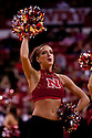 11 January 2012: Nebraska Cornhuskers Scarlets dance team member fires up the fans during the game against the Penn State Nittany Lions at the Devaney Sports Center in Lincoln, Nebraska. Nebraska defeated Penn State 70 to 58.
