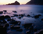 Twilight at Pfeiffer Beach, Big Sur, California