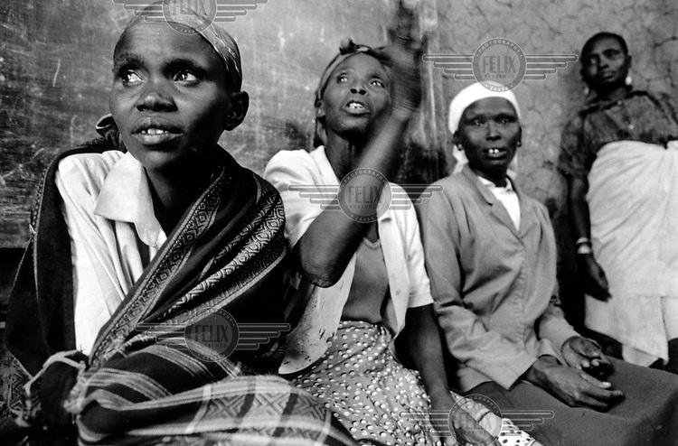 ©Crispin Hughes/Panos Pictures..Kenya. Tirken village, Ortum..Women's group.
