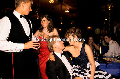 BALL AT CIRENCESTER ROYAL AGRICULTURAL COLLEGE,1990,