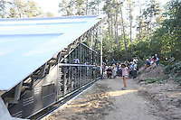 Namen der ehemaligen Insassen der KZ Außenstelle Walldorf zieren das Gebäude der Lern- und Gedenkstätte