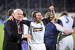 Walter Smith and Nacho Novo after the penalty shoot out against Fiorentina