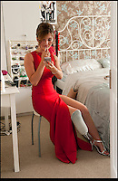 BNPS.co.uk (01202) 558833<br /> Picture: Peter Willows<br /> <br /> **exclusive/not online**<br /> <br /> Isabelle prepares for the prom<br /> <br /> Teenage amputee Isabelle Papandronicou has got a new prosthetic leg that has enabled her to wear heels for the first time, just in time for her school prom. Isabelle (15) from Barnet, London, chose to have her right leg amputated last year after several operations to fix a rare bone condition did not work. She has been wearing an NHS limb since then but has been limited to just flat shoes. After hearing about lifelike prosthetics that can be shaped to fit inside heeled footwear, her family started fundraising to get Isabelle a new leg. She has now been fitted with the &pound;5,633 leg by Dorset Orthopaedic in Ringwood, Hampshire, which she showcased at her year 11 leaver's ball.