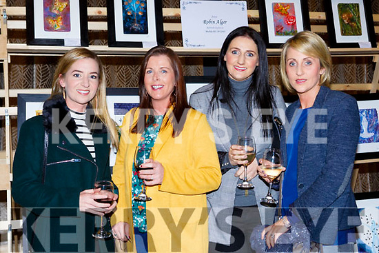 Céitlílís Ní Bheaglaoich, Karen Myers, Carmel Nash and Elaine Murphy at the Killarney Rotary club Wine+Art night in the Malton Hotel on Saturday night