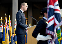 Prince William, Duke of Cambridge during a service at the National Memorial Arboretum in Alrewas, Staffordshire, during an event to commemorate the 75th anniversary of the D-Day landings. Photo Credit: ALPR/AdMedia