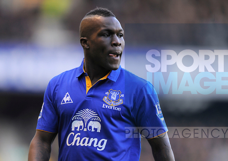 Royston Drenthe of Everton..The FA Cup with Budweiser 5th Round match between.Everton v Blackpool at Goodison Park, Liverpool on the .18th February 2012..Sportimage +44 7980659747.picturedesk@sportimage.co.uk.http://www.sportimage.co.uk/.