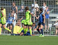 Kansas City, MO - Saturday June 25, 2016:  Shea Groom, Merritt Mathias during a regular season National Women's Soccer League (NWSL) match at Swope Soccer Village.