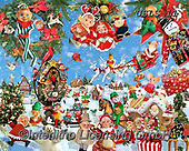 Lori, STILL LIFE STILLEBEN, NATURALEZA MORTA, paintings+++++Crazy Elves_6_72,USLS11,#I#, EVERYDAY ,puzzles ,collage ,Christmas snowmen,Christmas snowman