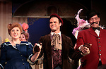 "Jillian Weimer ""Ermengarde"" & Jamey Grisham ""Ambrose Kemper"" & Charlie King ""Banjo Player"" star in Hello Dolly at the Barn Theatre iin its 68th season n Augusta, Michigan on opening night on August 19, 2014 at the curtain call. (Photo by Sue Coflin/Max Photos)"