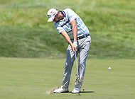 Potomac, MD - July 1, 2018:  Marc Leishman hits the ball during final round at the Quicken Loans National Tournament at TPC Potomac  in Potomac, MD, July 1, 2018.  (Photo by Elliott Brown/Media Images International)