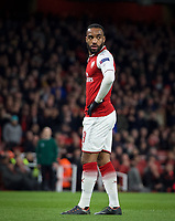 Alexandre Lacazette of Arsenal during the UEFA Europa League QF 1st leg match between Arsenal and CSKA Moscow  at the Emirates Stadium, London, England on 5 April 2018. Photo by Andrew Aleksiejczuk / PRiME Media Images.