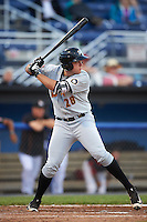 West Virginia Black Bears designated hitter Will Craig (28) at bat during a game against the Batavia Muckdogs on June 28, 2016 at Dwyer Stadium in Batavia, New York.  Batavia defeated West Virginia 3-1.  (Mike Janes/Four Seam Images)