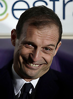 Calcio, Serie A: Fiorentina - Juventus, stadio Artemio Franchi Firenze 9 febbraio 2018.<br /> Juventus' coach Massimiliano Allegri waits for the start of the Italian Serie A football match between Fiorentina and Juventus at Florence's Artemio Franchi stadium, February 9, 2018.<br /> UPDATE IMAGES PRESS/Isabella Bonotto