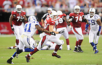 Sept. 27, 2009; Glendale, AZ, USA; Arizona Cardinals wide receiver (85) Jerheme Urban against the Indianapolis Colts at University of Phoenix Stadium. Indianapolis defeated Arizona 31-10. Mandatory Credit: Mark J. Rebilas-