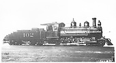 Engineer's-side builder's picture of Crystal River RR #102 as delivered by Baldwin in 1900, later acquired by D&amp;RGW as #361.<br /> Crystal River Railroad  Philadelphia, PA  1900