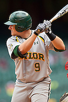 Max Muncy #9 of the Baylor Bears at bat against the Houston Cougars at Minute Maid Park on March 4, 2011 in Houston, Texas.  Photo by Brian Westerholt / Four Seam Images