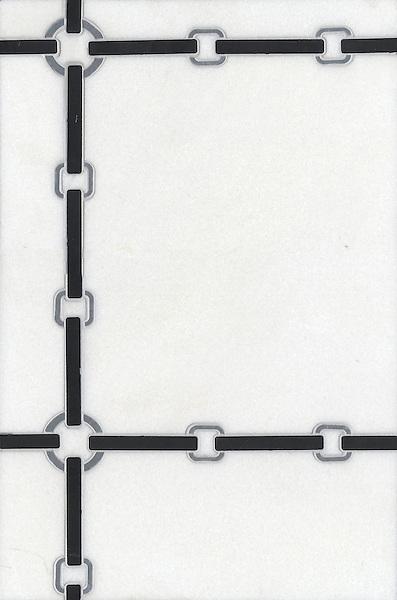 Name: Strap small<br /> Style: Contemporary<br /> Product Number: CB0842<br /> Description: Strap in Thassos, Nero Marquina, Bardiglio (h)