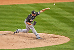 1 April 2013: Miami Marlins pitcher Mike Dunn on the mound during the Opening Day Game against the Washington Nationals at Nationals Park in Washington, DC. The Nationals shut out the Marlins 2-0 to launch the 2013 season. Mandatory Credit: Ed Wolfstein Photo *** RAW (NEF) Image File Available ***