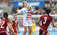 Houston, TX - Sunday April 8, 2018: Lindsey Horan during an International friendly match versus the women's National teams of the United States (USA) and Mexico (MEX) at BBVA Compass Stadium.