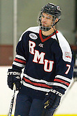 Colin South (RMU - 7) - The Bentley University Falcons defeated the visiting Robert Morris University Colonials 2-1 on Friday, January 6, 2012, at the John A. Ryan Skating Arena in Watertown, Massachusetts.