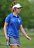 Emmah Federman of Kellenberg watches a putt on the 18th Hole of Eisenhower Park's Blue Course during the Nassau-Suffolk CHSAA girls golf championship on Tuesday, May 16, 2017. She shot  a 5-over 77 to win the event.