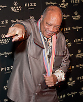 LAS VEGAS, NV - March 28: Quincy Jones pictured arriving at FIZZ Grand Openign at Caesars Palace in Las Vegas, NV on March 28, 2014. © Kabik/ Starlitepics