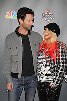 WEST HOLLYWOOD, CA - NOV 8: Adam Levine and Christina Aguilera at the NBC's 'The Voice' Season 3 at House of Blues Sunset Strip on November 8, 2012 in West Hollywood, California.  Credit: mpi27/MediaPunch Inc. /NortePhoto.com