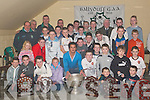 Awards: The members of the Ballyduff Bord na nOg GAA club who were presented their awards on Friday night by Kerry's Paul Galvin at the club house.   Copyright Kerry's Eye 2008