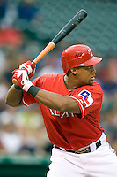 Texas Rangers third baseman Adrian Beltre (29) at bat against the Oakland Athetics in American League baseball on May 11, 2011 at the Rangers Ballpark in  Arlington, Texas. (Photo by Andrew Woolley / Four Seam Images)