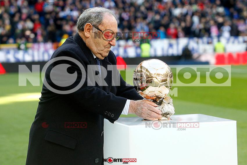 Real Madrid's legend Paco Gento during La Liga match. January 7,2016. (ALTERPHOTOS/Acero) . NORTEPHOTO.COM